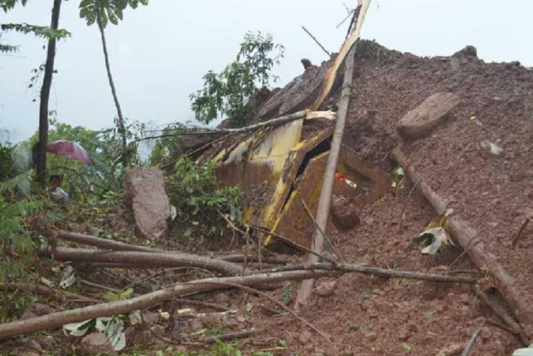 La caída de un huaico en el distrito de Codo del Pozuzo, en el límite de las provincias de Puerto Inca y Oxapampa, dejó el saldo de un muerto, dos heridos y dos desaparecidos, informaron fuentes locales.
