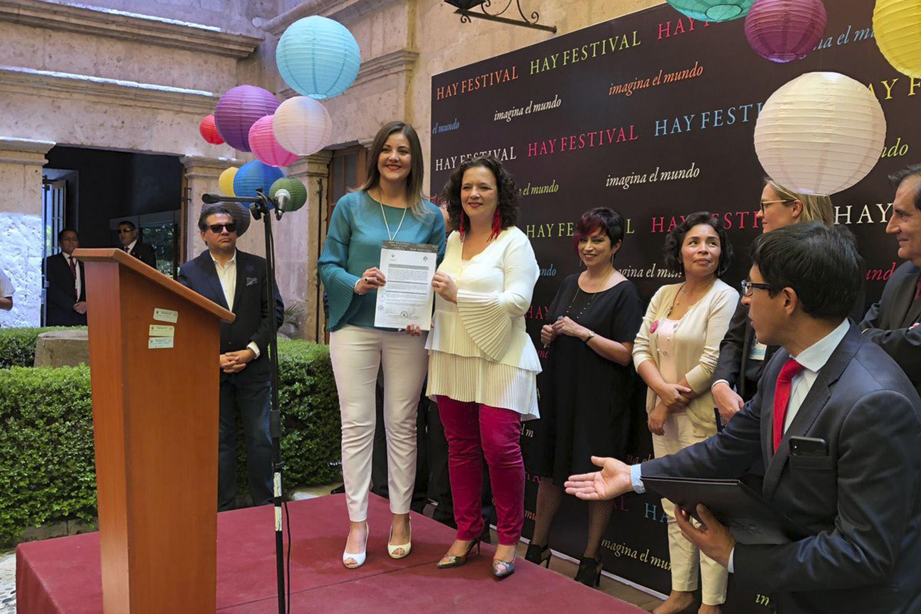 Hoy fue la inauguración del Hay Festival Arequipa (Foto: Twitter/ @hayfestival_esp )