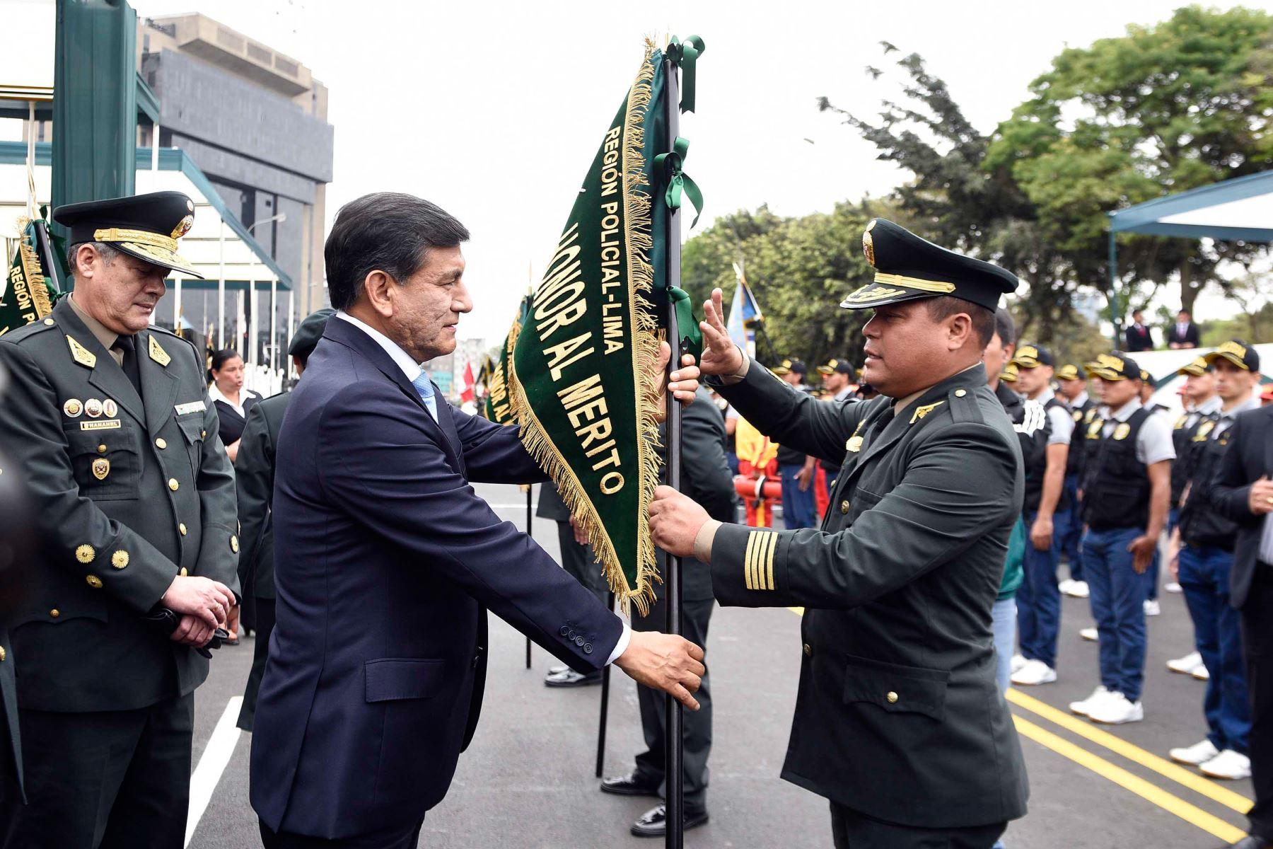 Ceremonia por el 74 aniversario de la Región Policial Lima. Foto: Andina/Difusión