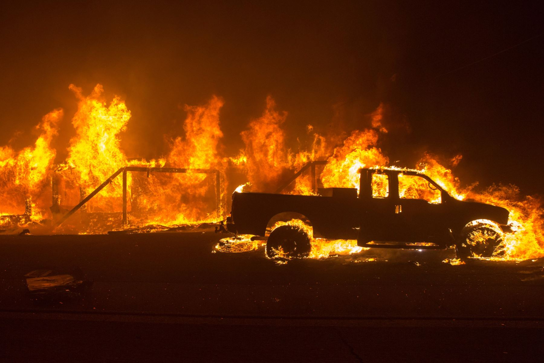 Incendio en California Foto: EFE