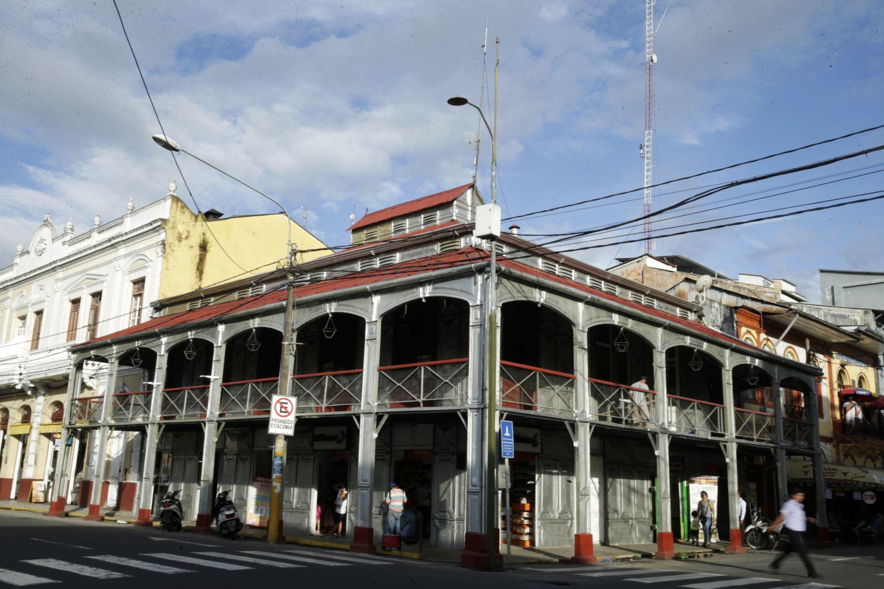 La Casa de Fierro, uno de los atractivos históricos y emblemáticos de la ciudad de Iquitos. ANDINA/Melina Mejía