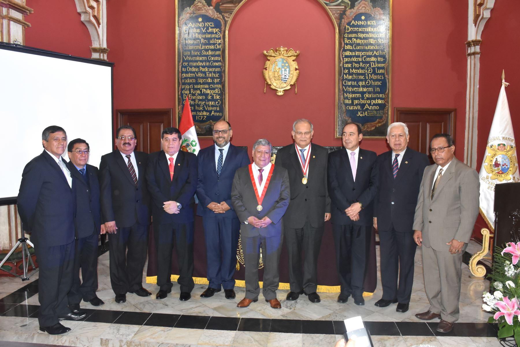 Rectores conforman primera Red Peruana de Universidades Nacionales para la Internacionalización. Foto: UNMSM