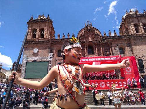 La ministra de la Mujer y Poblaciones Vulnerables, Ana María Mendieta, participó en el lanzamiento de la Agenda Bicentenario en el Cusco. Foto: ANDINA/Percy Hurtado