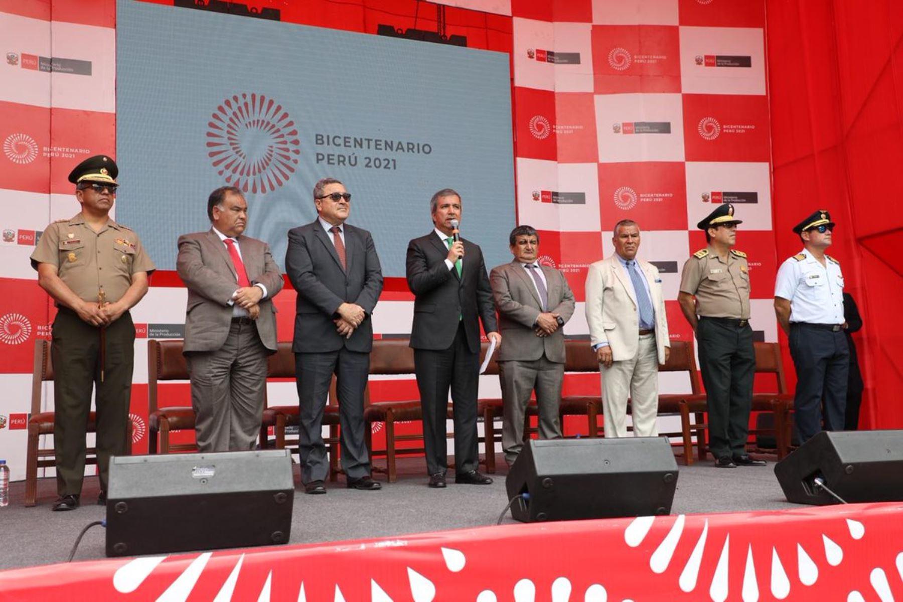 Ministro de la Producción, Raúl Pérez-Reyes, encabezó ceremonia de lanzamiento de la Agenda Bicentenario en Chiclayo, Lambayeque. ANDINA/Difusión