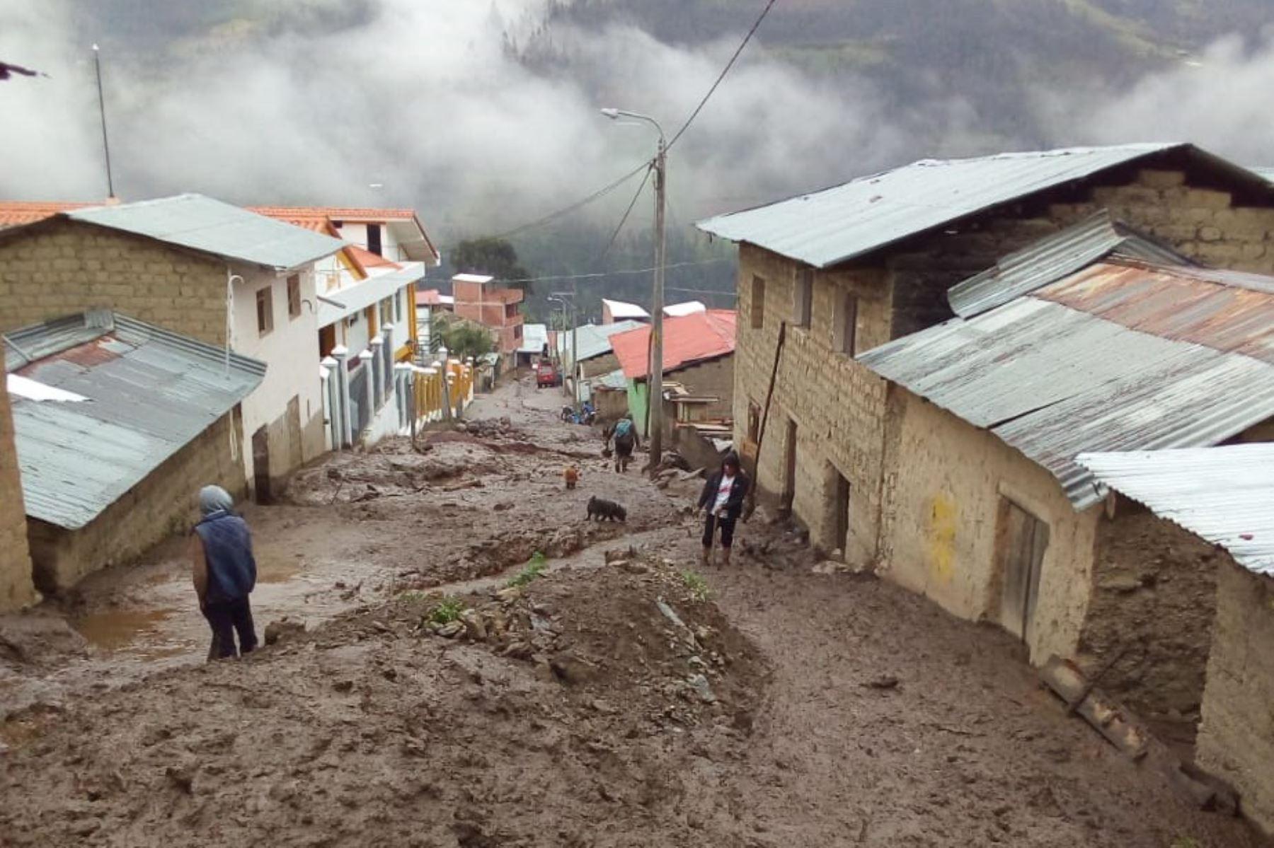 Huaico deja más de 30 familias damnificadas en provincia de Paucartambo, en Cusco. ANDINA