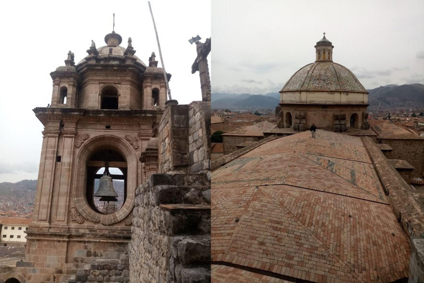 Recomiendan evaluar pináculos de la catedral de Cusco dañados por el sismo. ANDINA