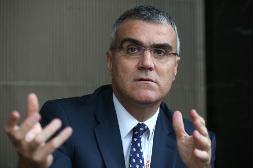 Presidente de la Cámara de Comercio de España en el Perú, Alberto Almendres. ANDINA/Vidal Tarqui