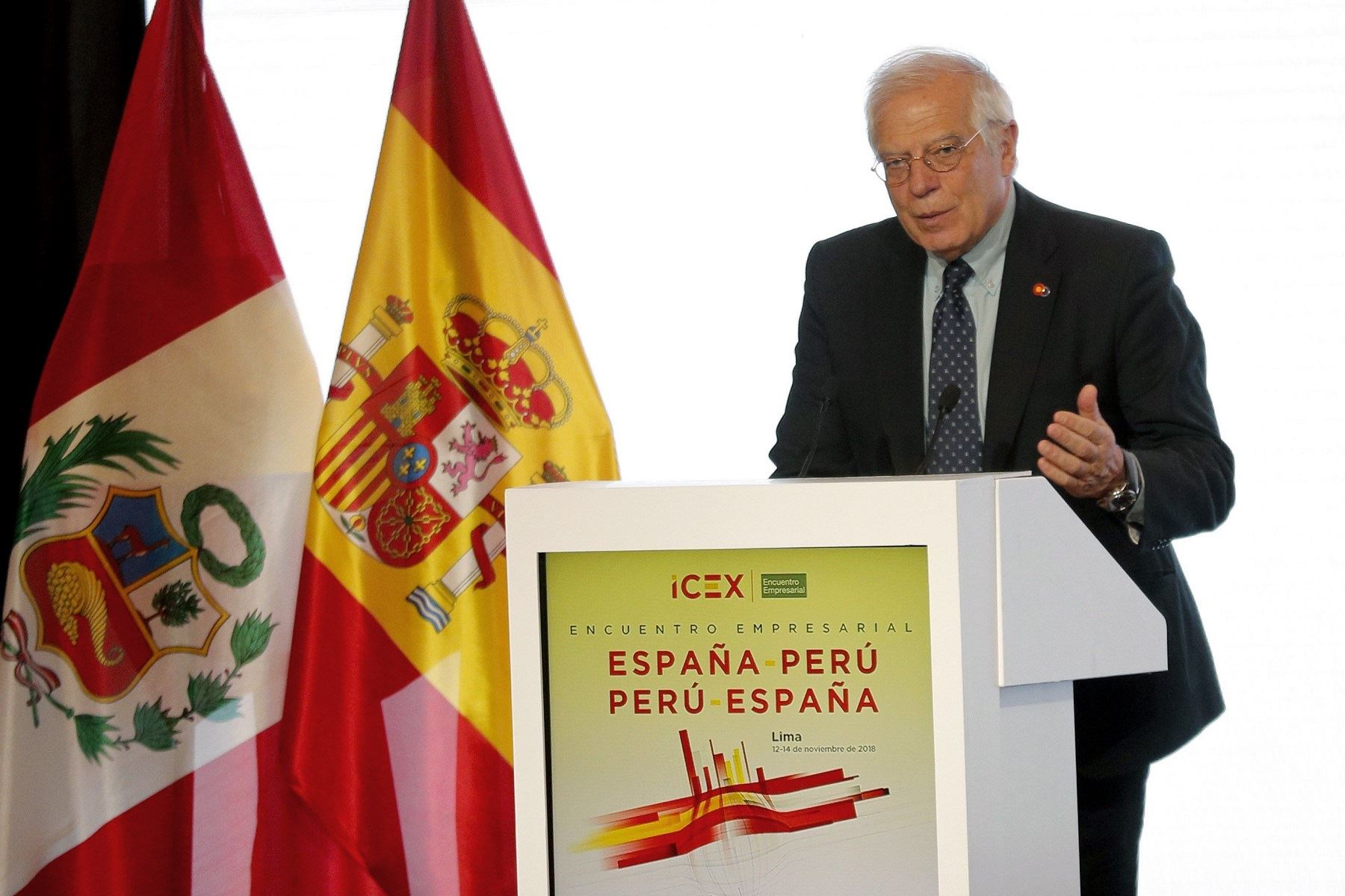 Ministro de Exteriores de España, Josep Borrell Foto: EFE