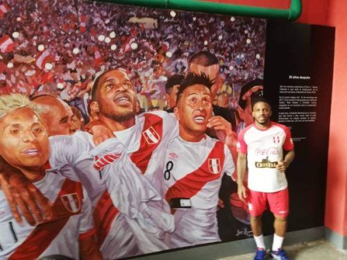 El muro de la celebración de la clasificación al Mundial de Rusia 2018 es parte del Estadio Nacional