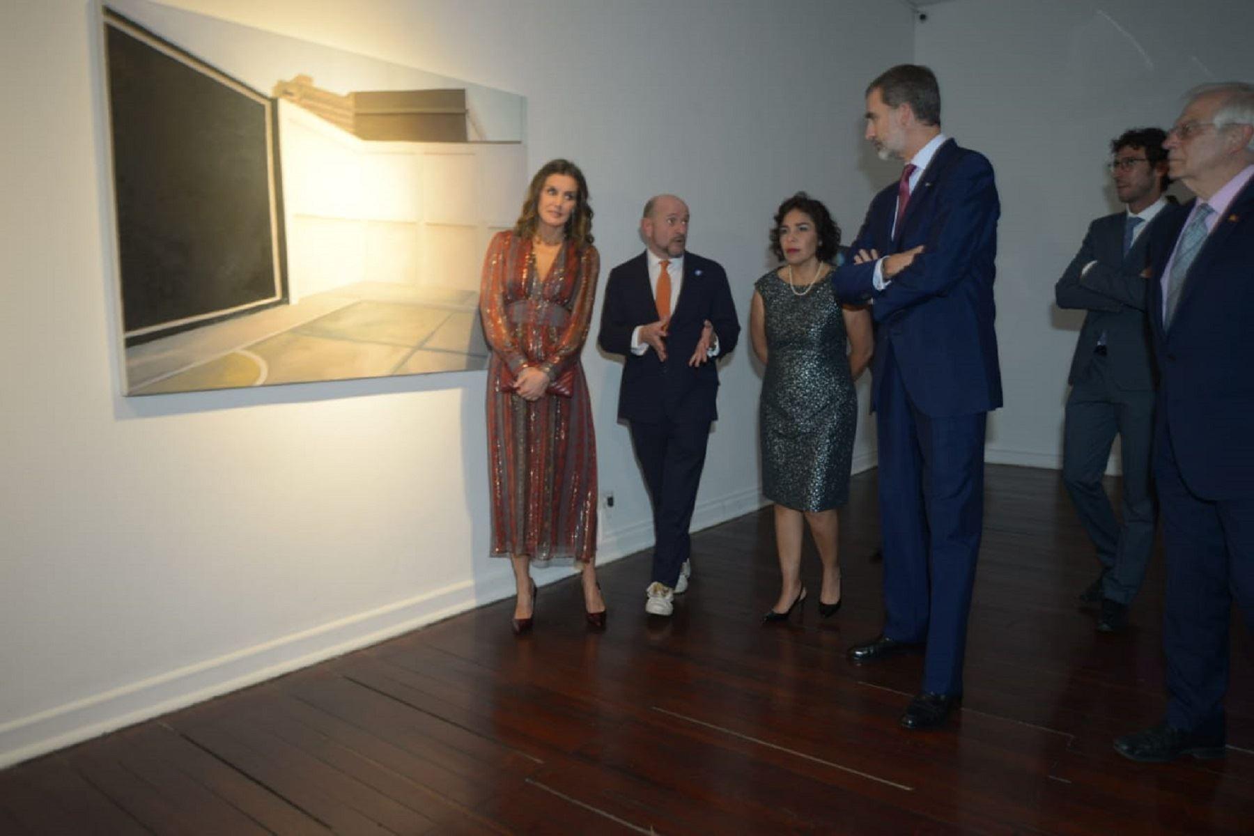 Ministra de Cultura, Patricia Balbuena y reyes de España Foto: Ministerio de Cultura