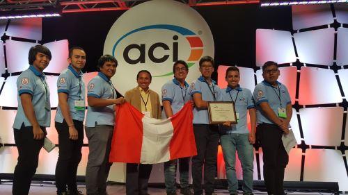 Estudiantes de UNI triunfan en mundial con la mejor mezcla de concreto