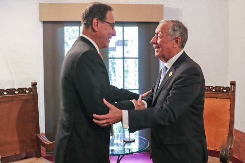 Presidente Vizcarra sostiene reuniones bilaterales durante  la XXVI Cumbre Iberoamericana en Guatemala.