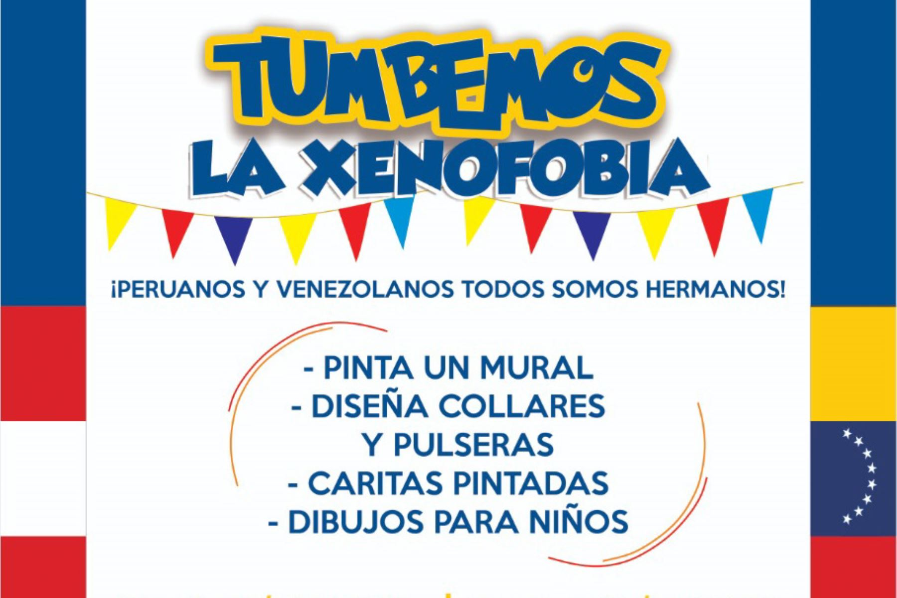 """""""Tumbemos la xenofobia"""" es impulsada por las organizaciones Start Fund, World Vision Perú y Care Perú."""