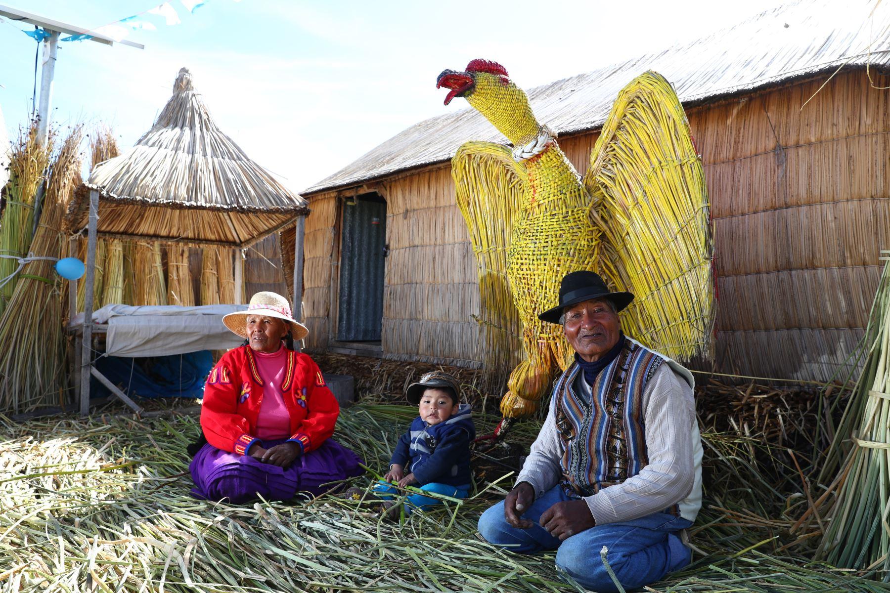Ante la dificultad de tender redes de transmisión por las aguas del Titicaca, el Gobierno decidió impulsar un proyecto para instalar paneles que captan la luz solar y proveen de energía eléctrica para satisfacer necesidades básicas como iluminación, cargador de celulares, radio y televisión. Foto: ANDINA/Difusión