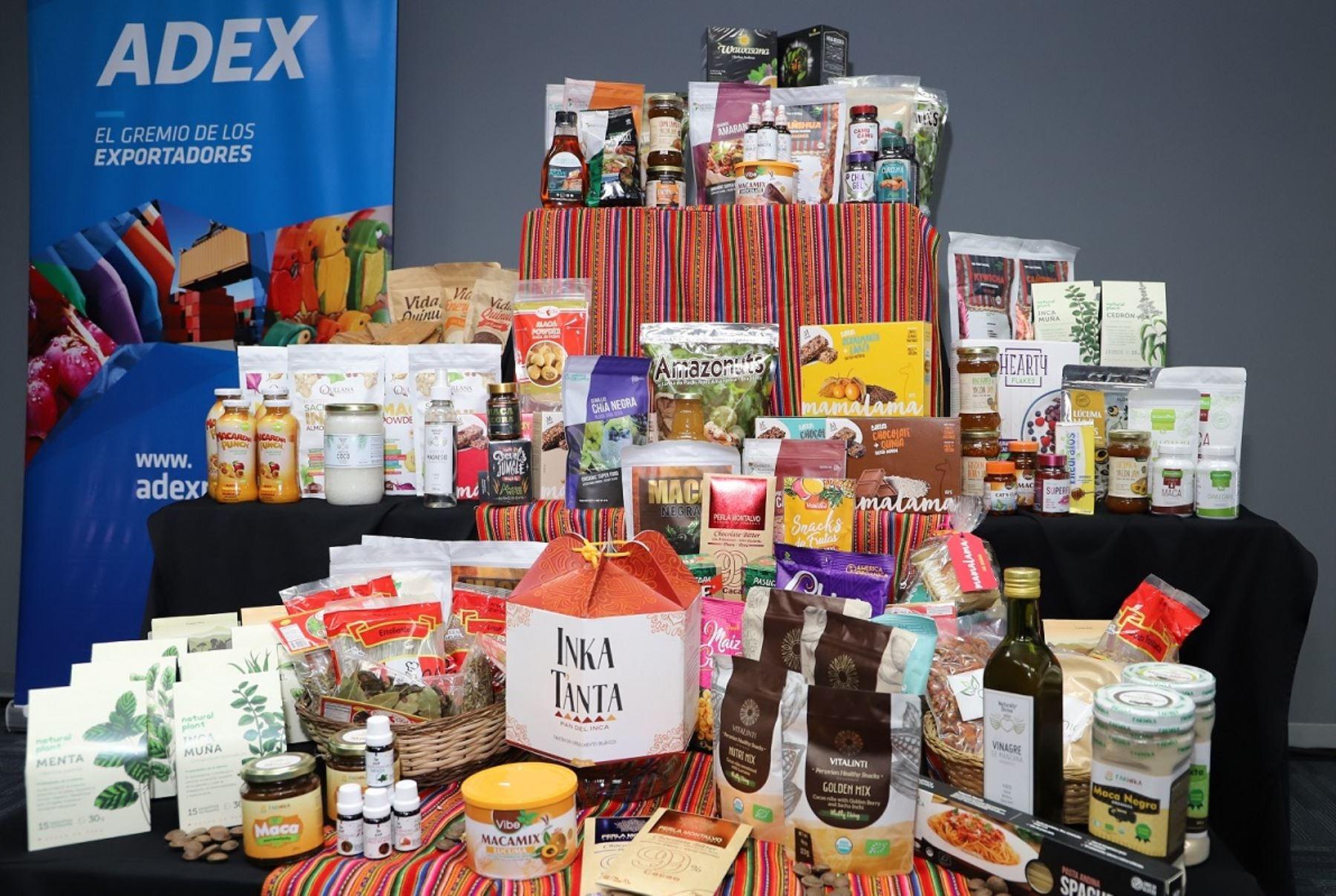 Productos naturales peruanos de exportación. Foto: Cortesía.