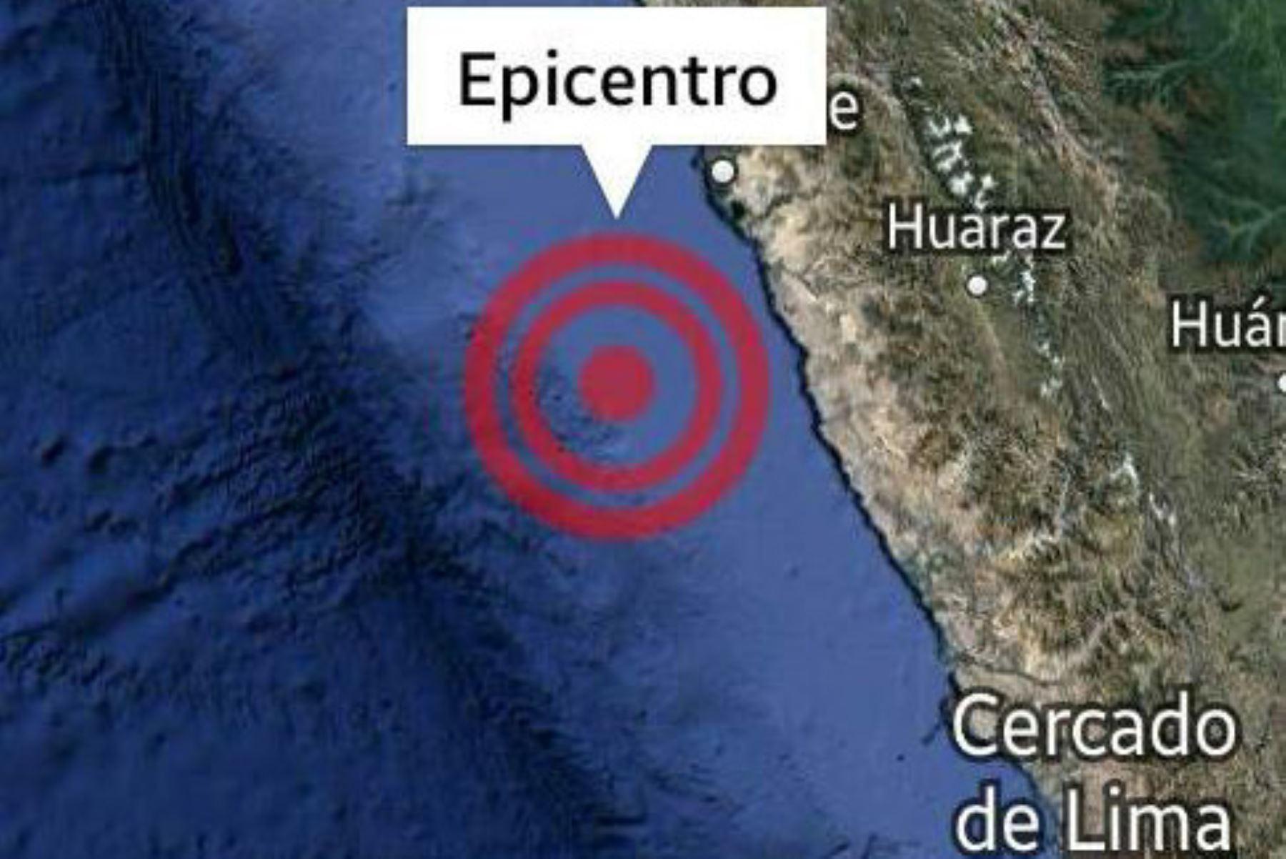 Epicentro del fuerte sismo de magnitud 5.7 se ubicó en el océano Pacífico, cerca de Casma.