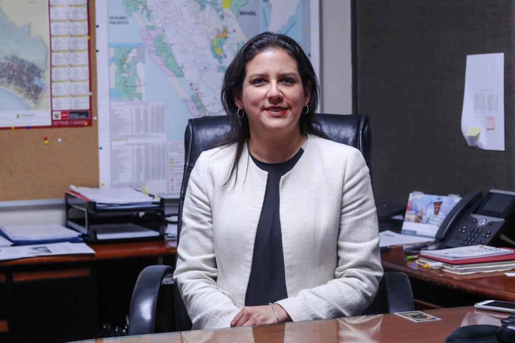 Nueva viceministra de Electricidad, Patricia Elliot Blas. Foto: ANDINA/Difusión.
