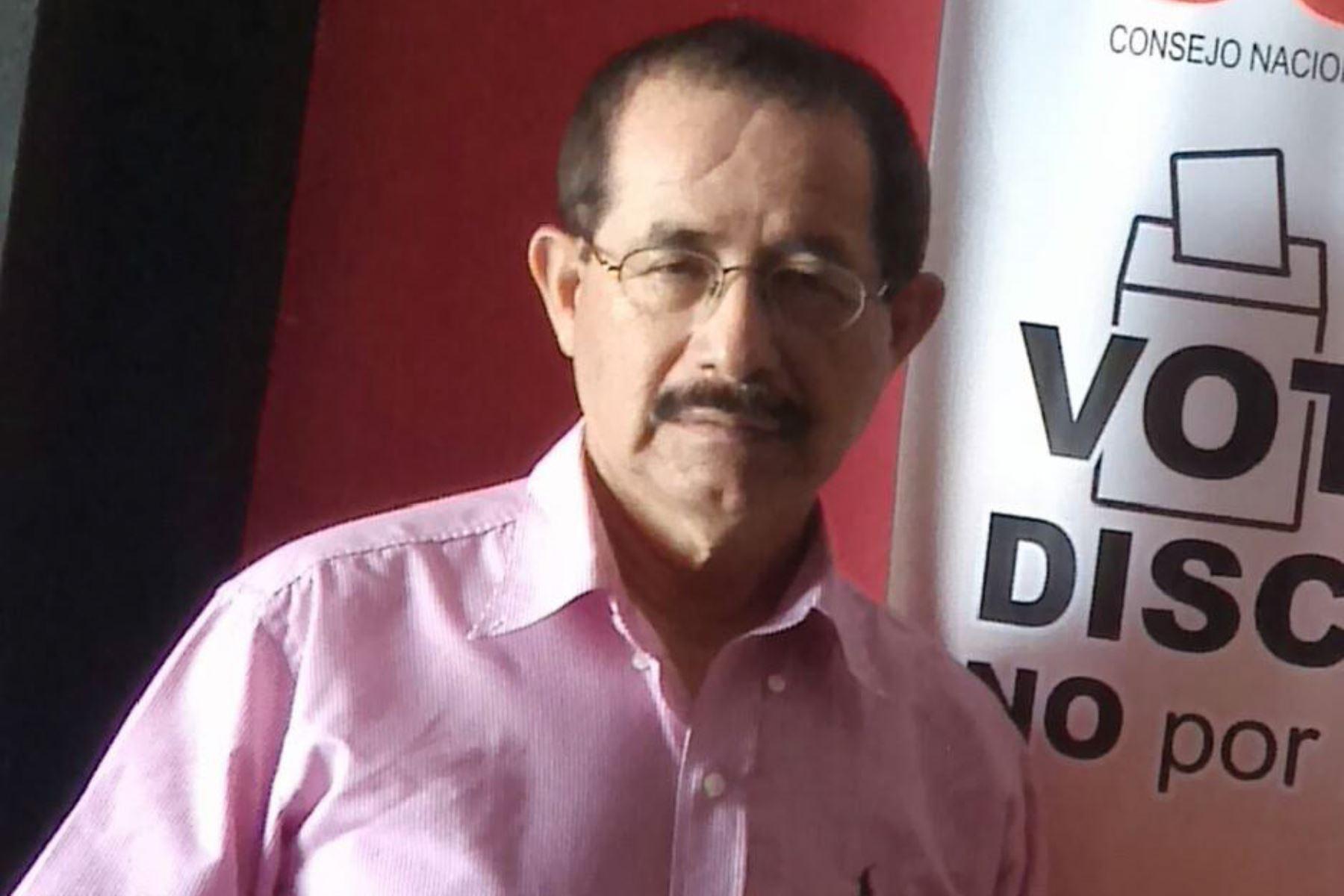 Gobernador electo de San Martín, Pedro Bogarín, promete convocar a líderes políticos. ANDINA