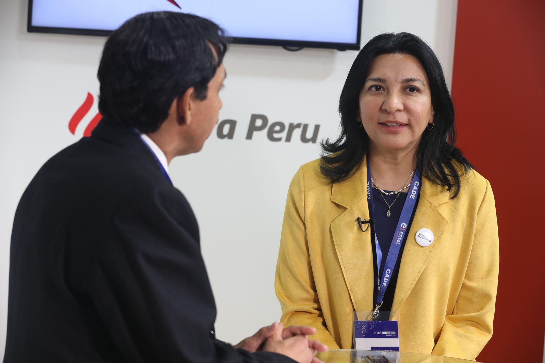 Economista Ana Reátegui. ANDINA/Jack Ramón