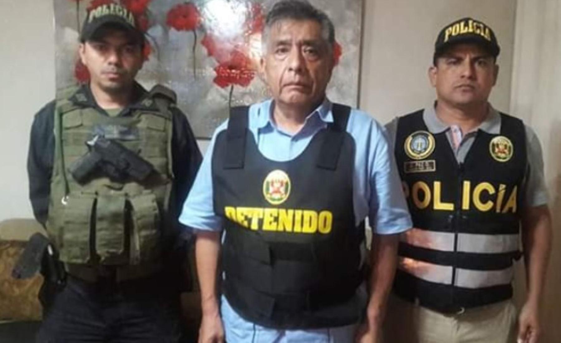 Policía detuvo a alcalde de Chiclayo,David Cornejo, presunto cabecilla de organización criminal. ANDINA/Difusión