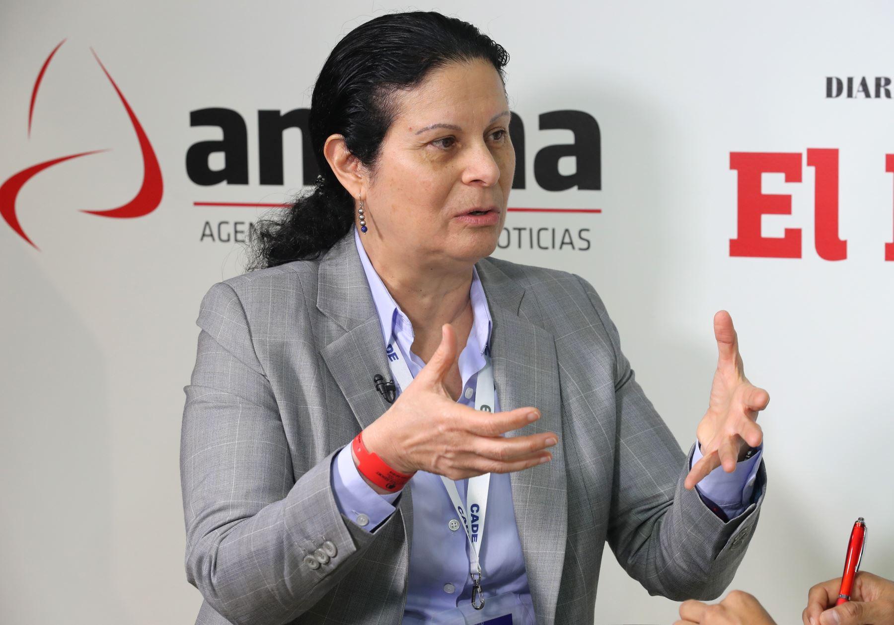 Socorro Heysen, jefa de la Superintendencia de Banca, Seguros y AFP (SBS). Foto: ANDINA/Jack Ramón