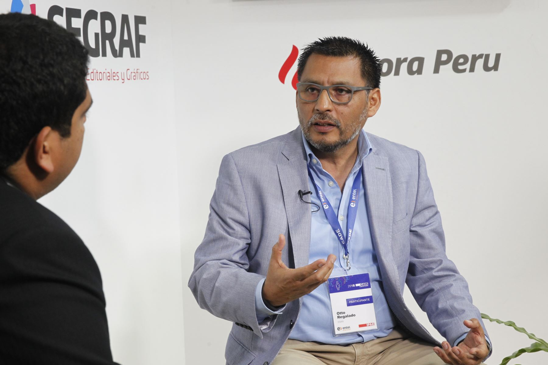 Director Comercial de ESAN, Otto Regalado ANDINA/Jhony Laurente