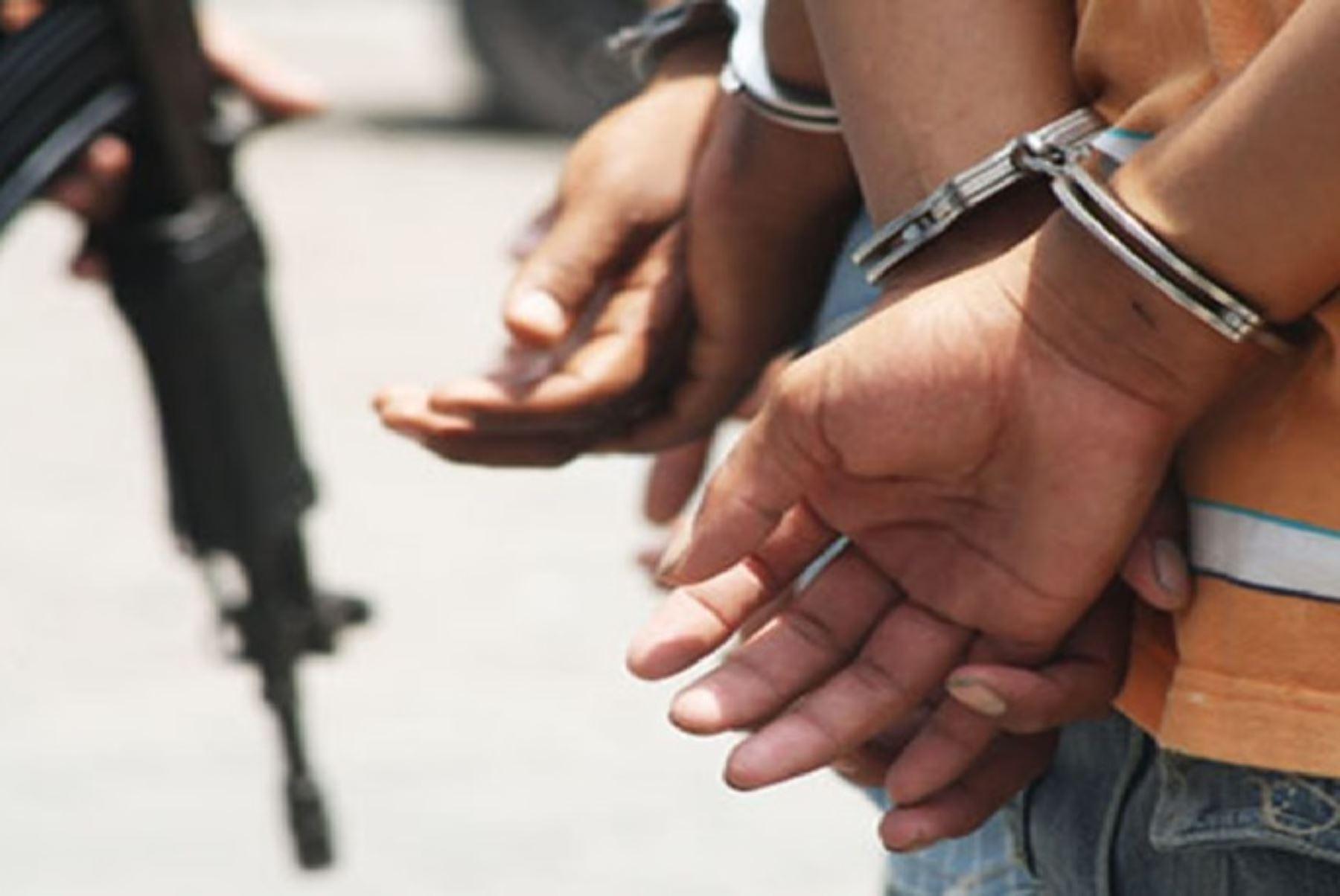 Desarticulan banda criminal dedicada al tráfico de terrenos en La Libertad. ANDINA/Difusión
