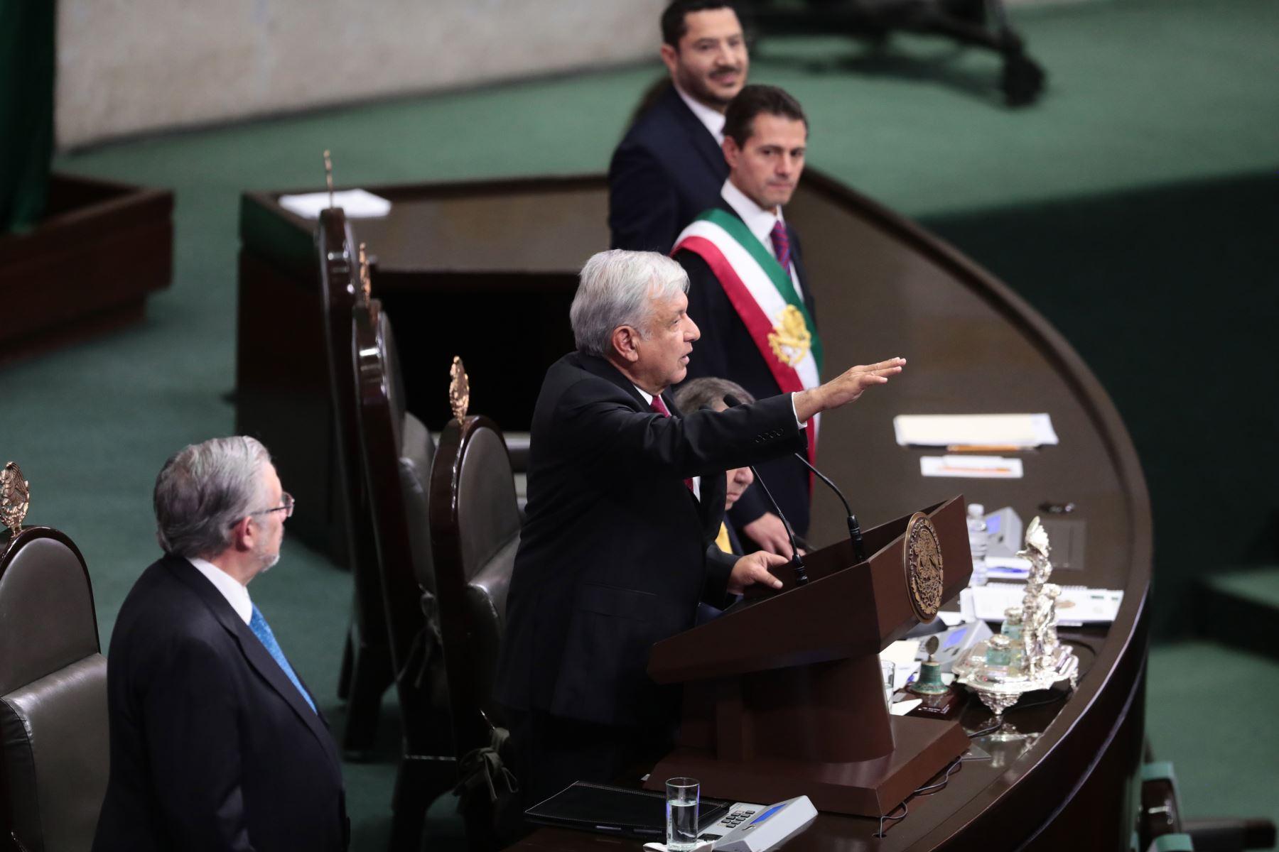 Jefe de Estado Martín Vizcarra asistiò a la toma de mando del presidente electo de México, Andrés Manuel López Obrador. Foto: ANDINA/Prensa Presidencia