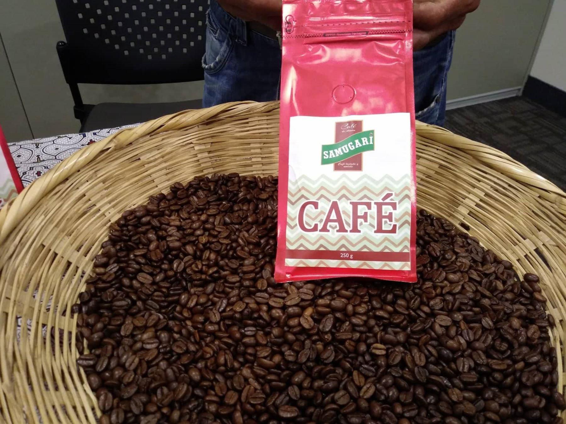 """Café de la marca Samugari bajo el sello """"Hecho en el Vraem"""" fue presentado en Lima junto a otras 15 marcas."""