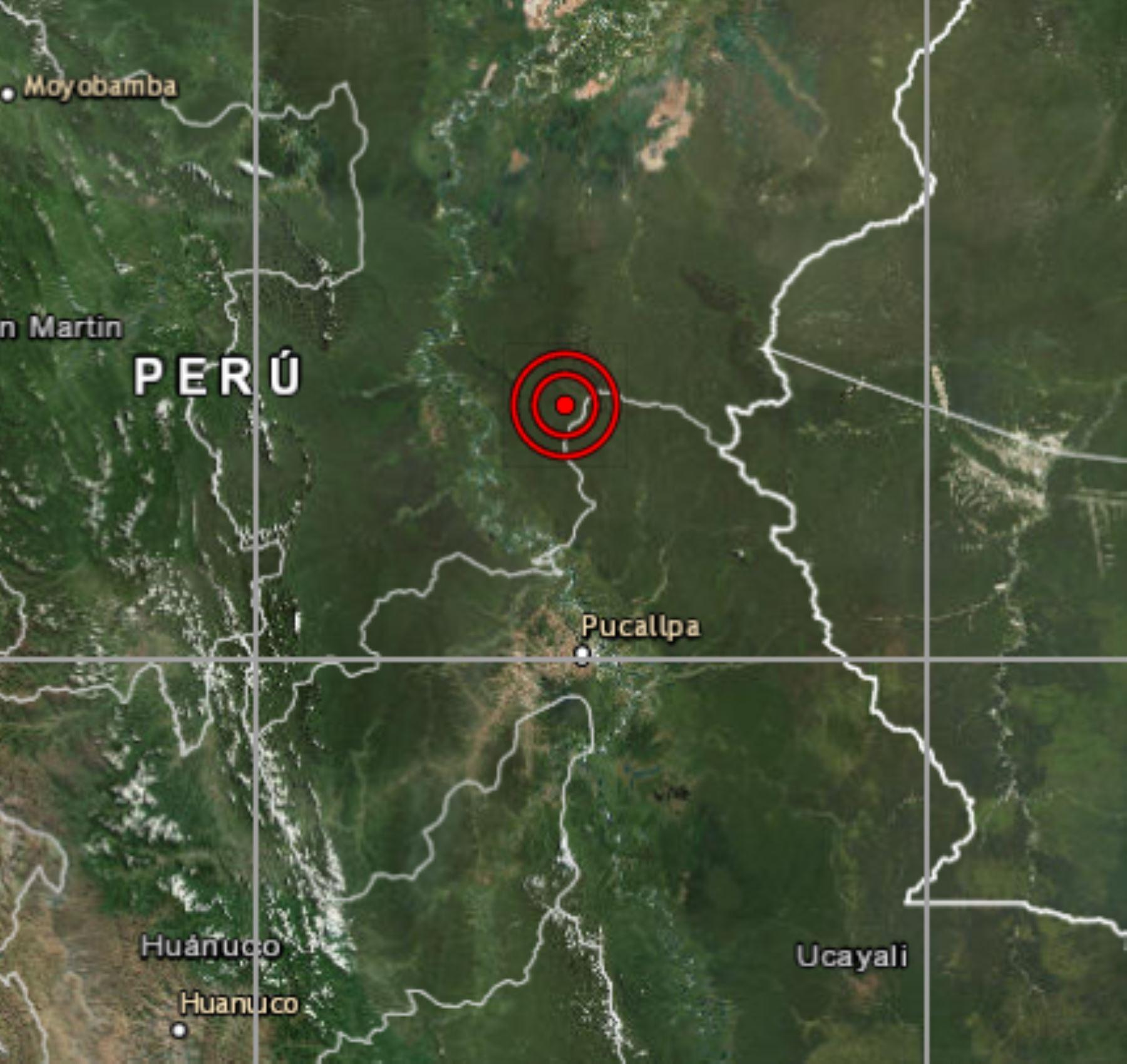 El Instituto Geofísico del Perú reportó un sismo de magnitud 4.2 en Contamana, región Loreto. ANDINA/Difusión
