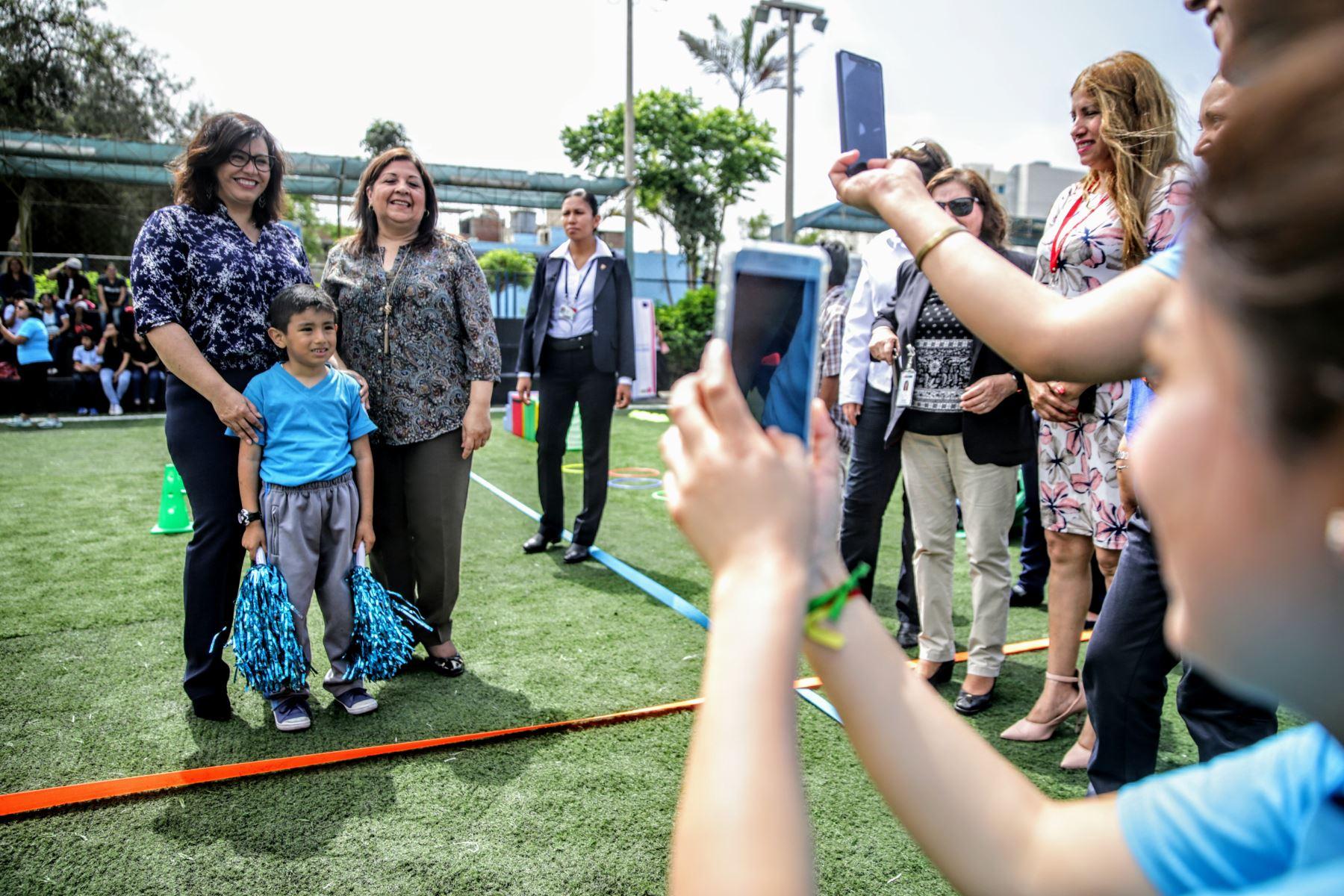 Primera Dama de la Nación, Maribel Díaz Cabello, asiste a la exhibición de destrezas de los integrantes de las Olimpiadas Especiales. Foto: ANDINA/Luis Iparraguirre