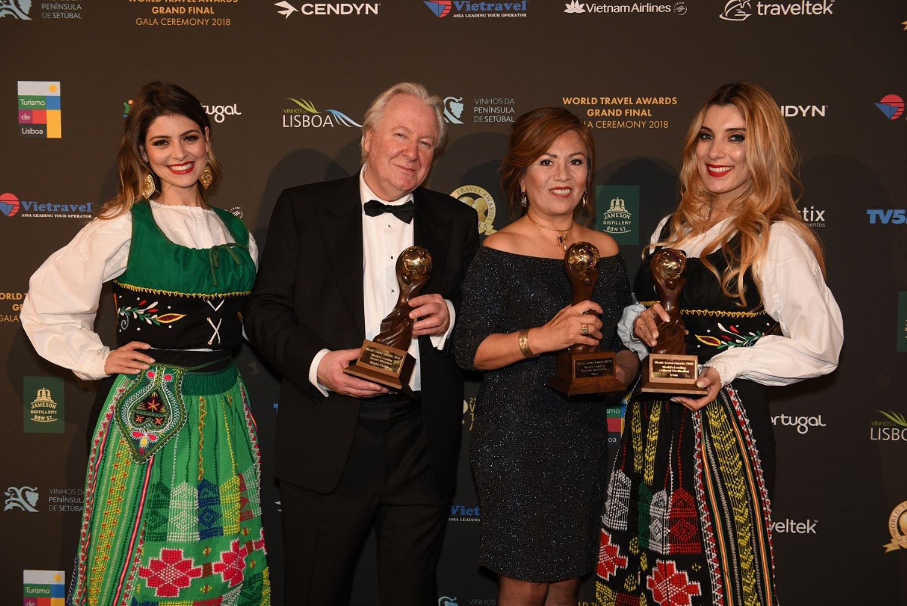 Premios del Perú en el World Travel Awards 2018 celebrado en Lisboa, Portugal. Foto: Cortesía.