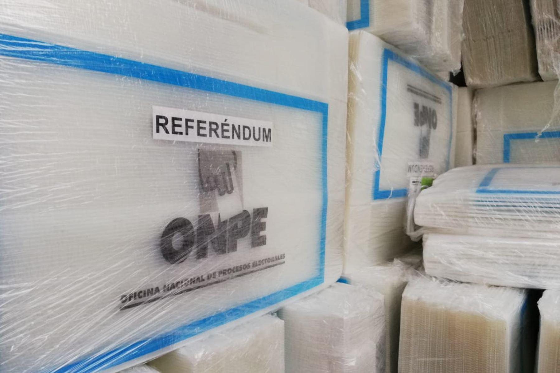 Autoridades electorales de Áncash verifican material electoral. ANDINA/Difusión