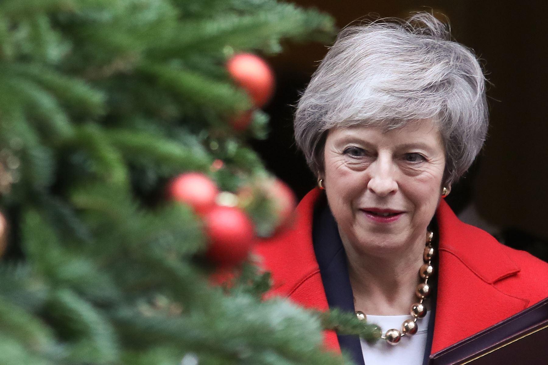 Segundo lugar: Theresa May, ministra de Reino Unido. AFP