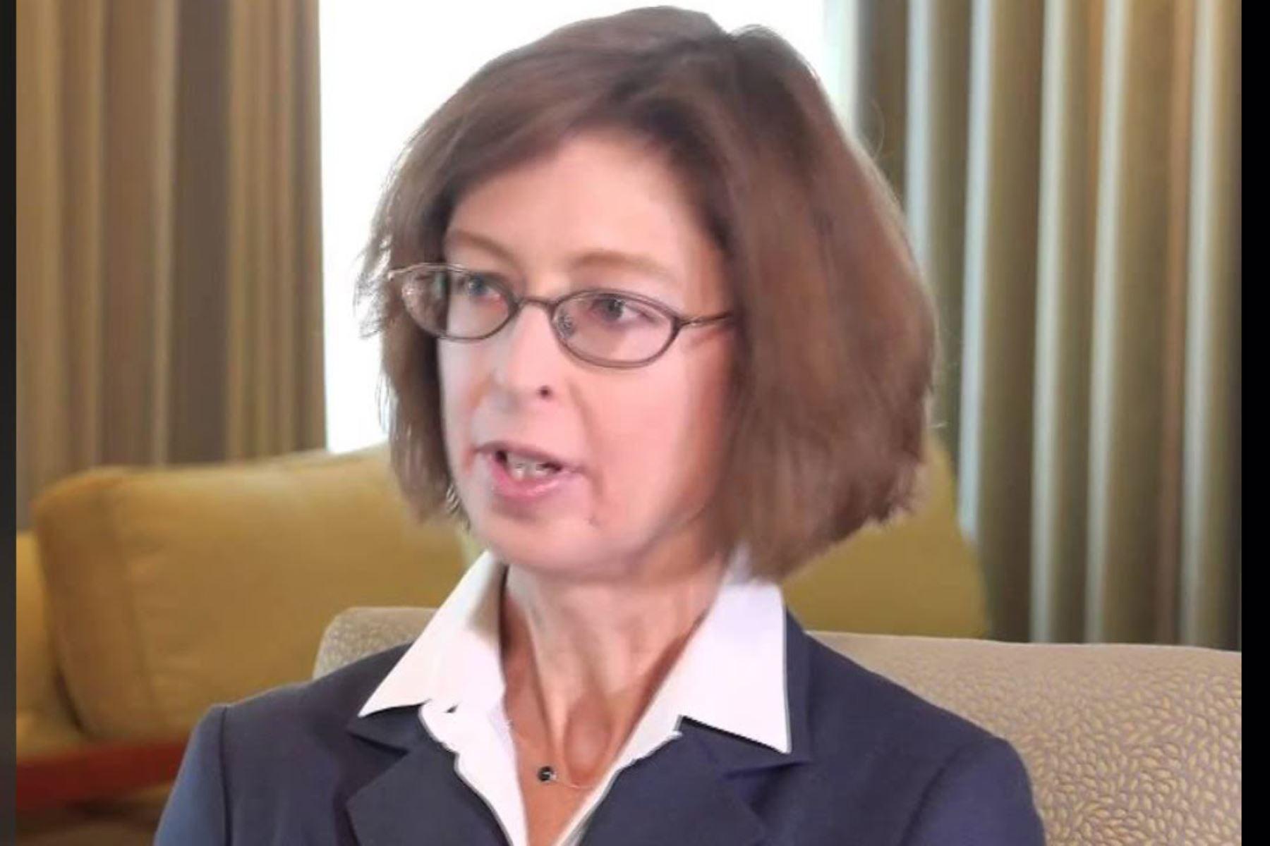 Quinto lugar: Abigail Johson, directora general de la financiera estadounidense Fidelity Investments.. AFP