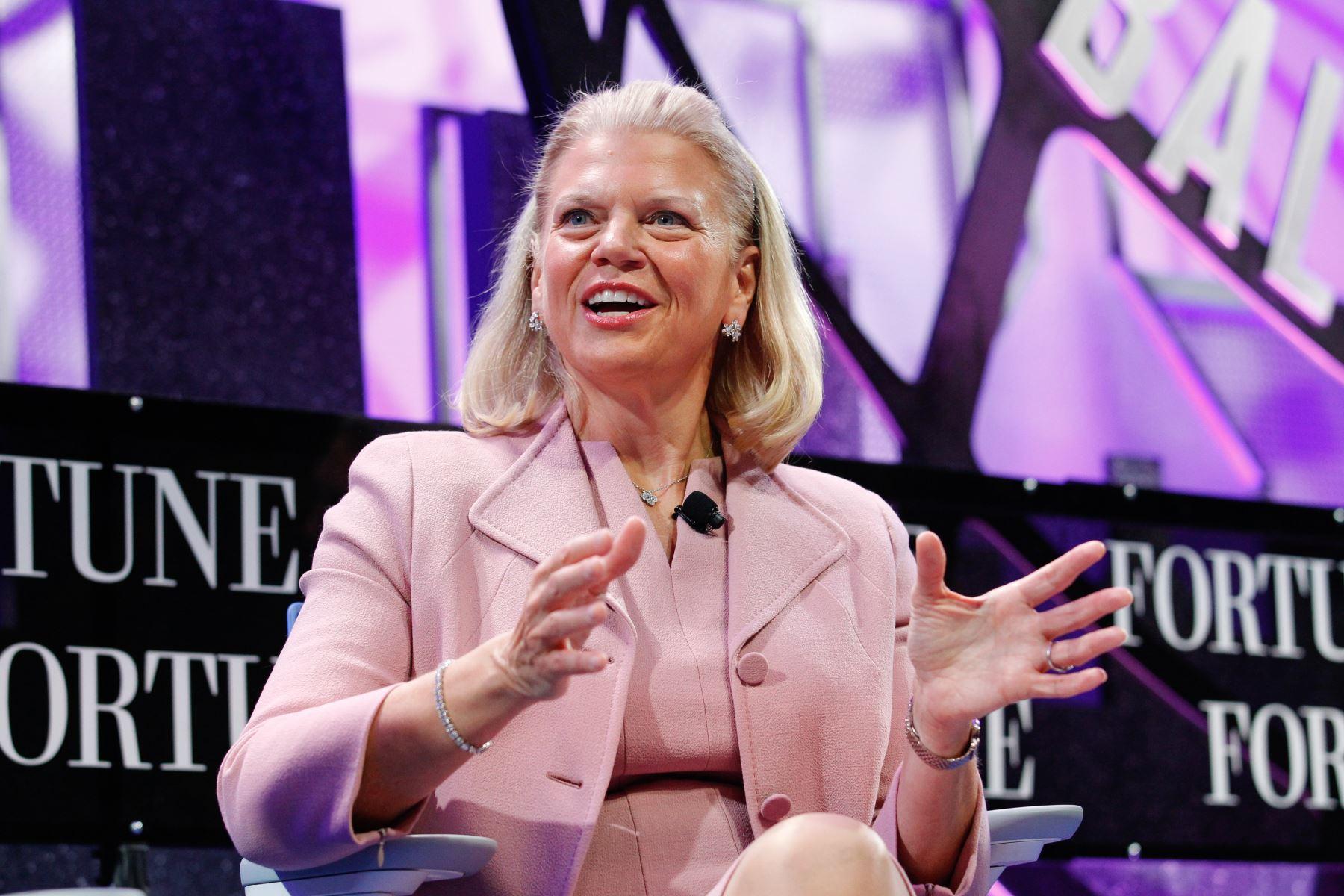 Ginni Rometty presidenta y CEO de la compañía IBM. AFP