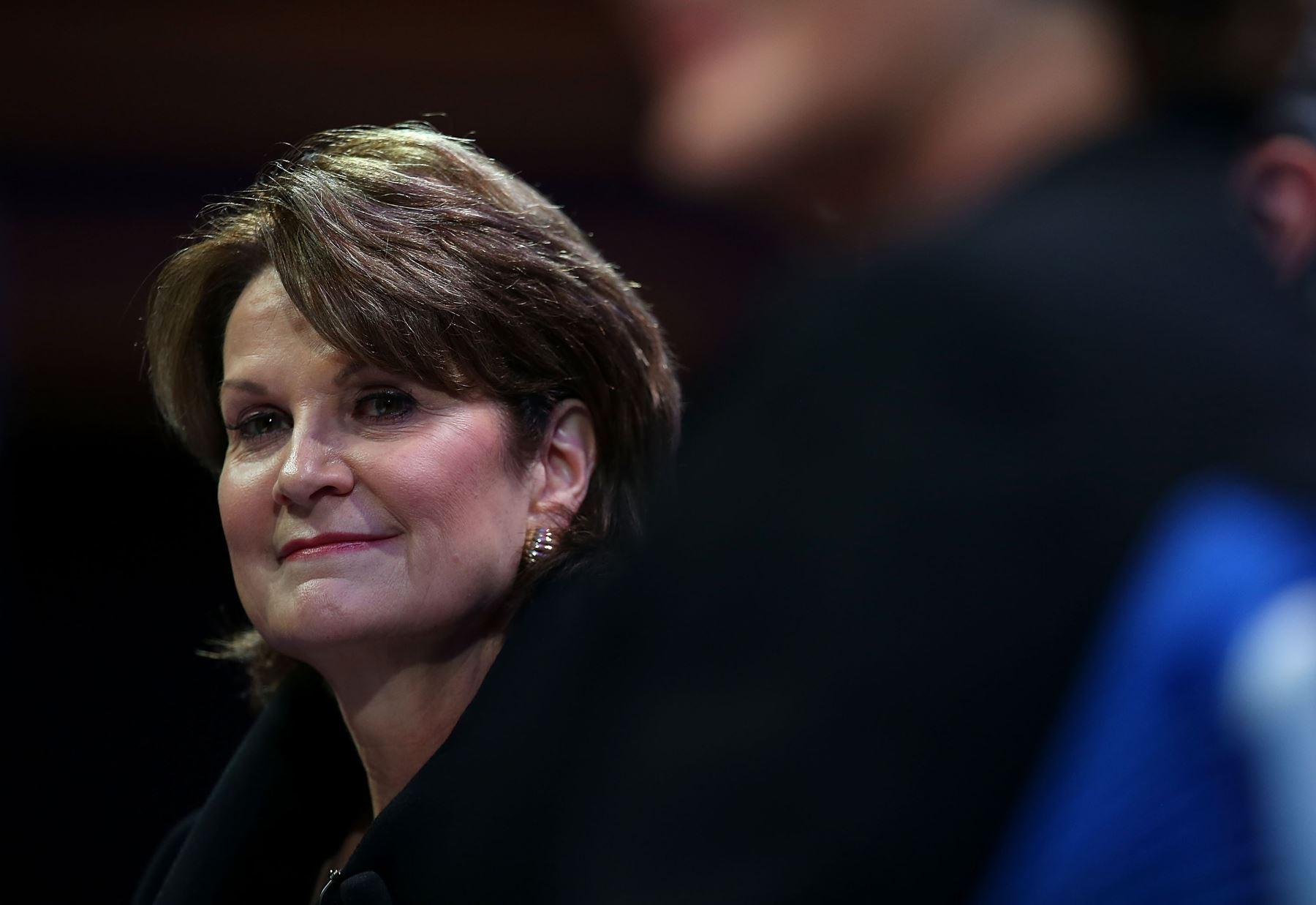 Marillyn Adams Hewson es el presidente, presidente y director ejecutivo de Lockheed Martin. AFP
