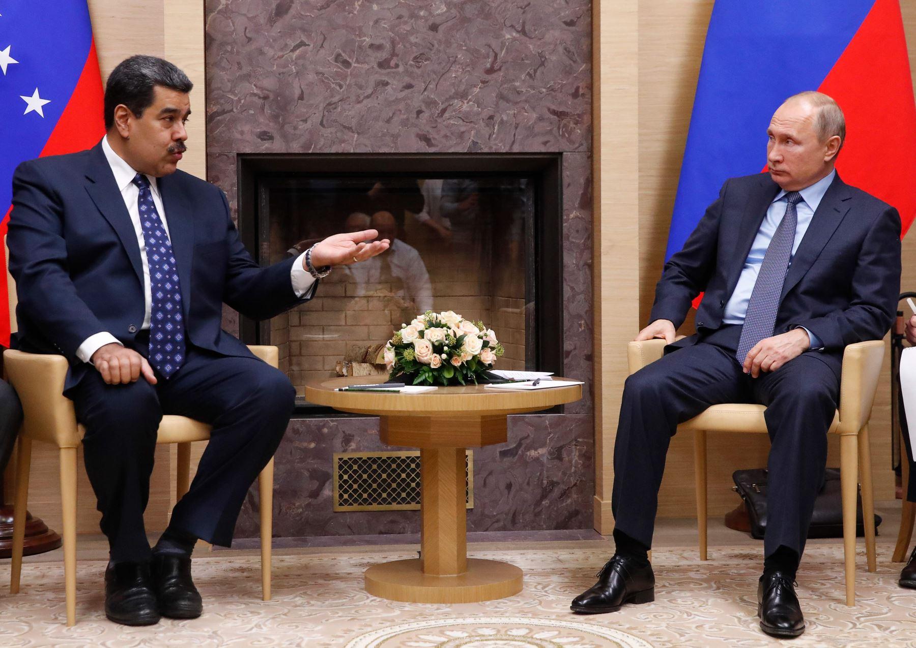 El presidente ruso Vladimir Putin se reúne con su homólogo venezolano Nicolas Maduro Foto: AFP