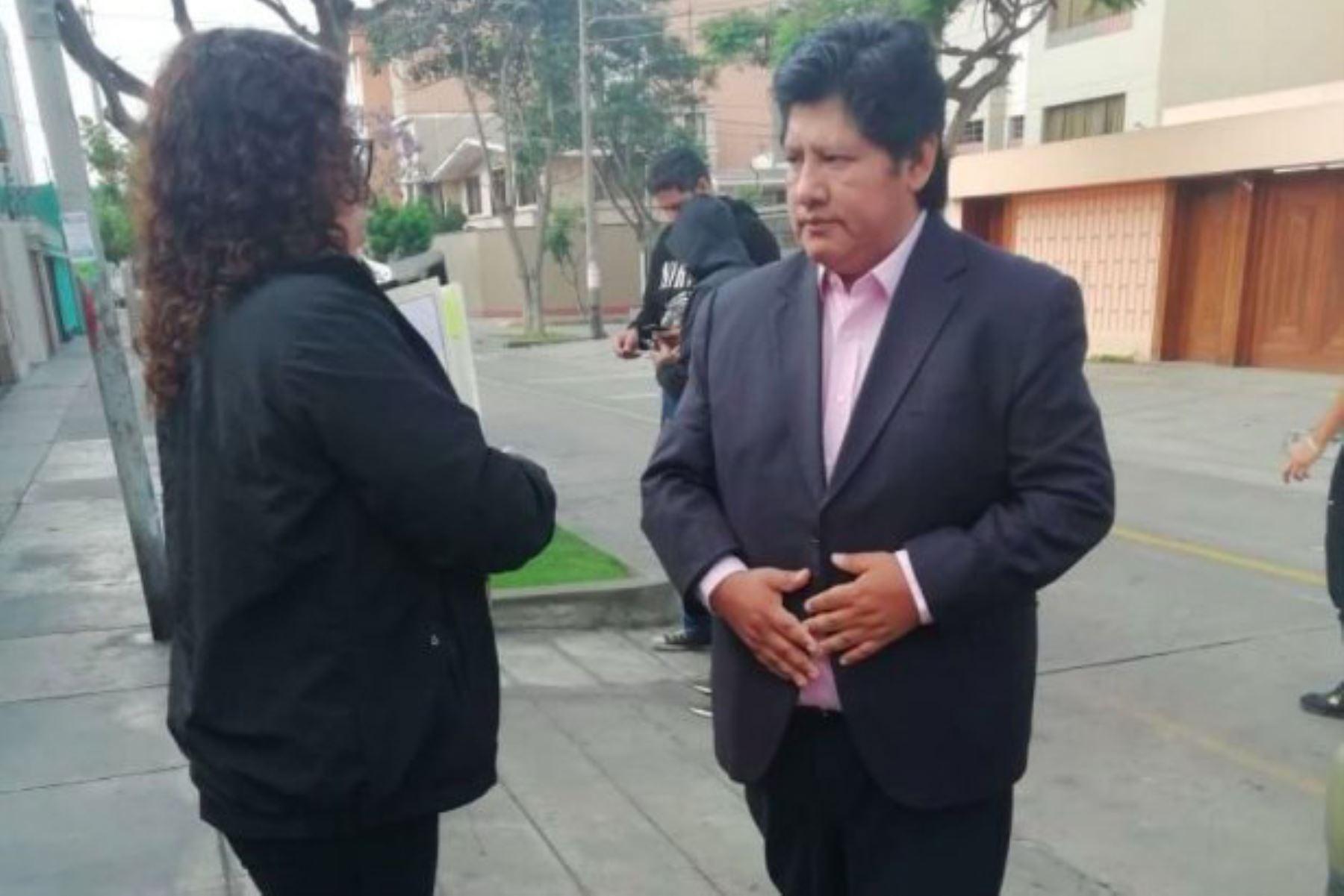 Presidente de la FPF, Edwin Oviedo, es detenido por 15 días por caso Los Cuellos Blancos del Puerto. Foto: ANDINA/Difusión.