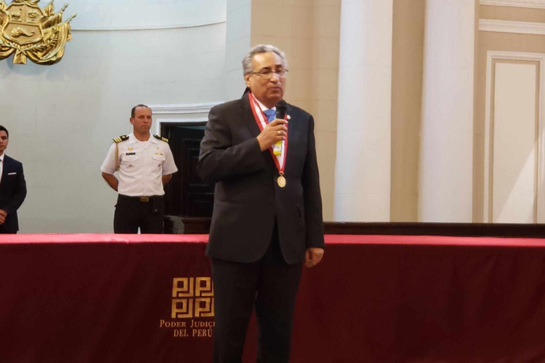 Nuevo presidente del Poder Judical, José Luis Lecaros.