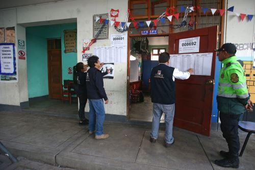 El 98.9% de las mesas de sufragio ya se instaló en Ayacucho.Foto:  ANDINA/Vidal Tarqui.