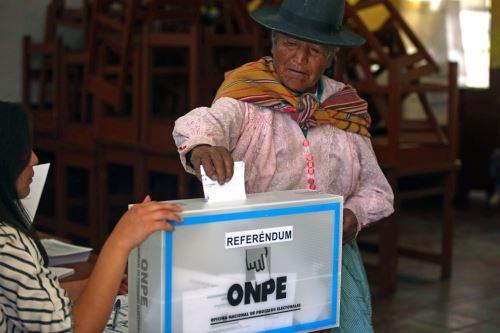 Referéndum 2018:Jornada electoral en Ayacucho