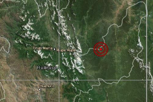 Sismo de magnitud 4.3 remeció Huánuco esta madrugada