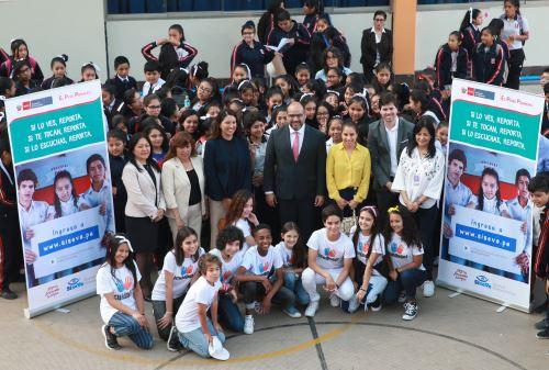 Minedu cerró campaña contra la violencia escolar