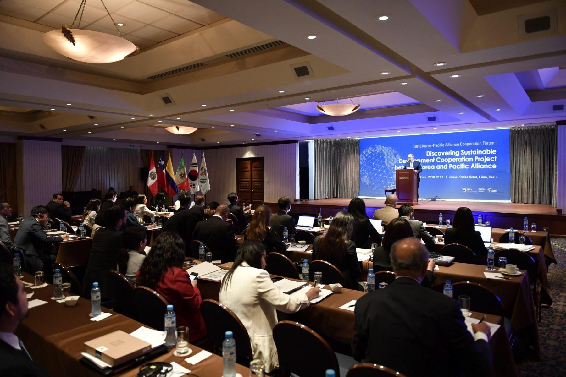 Foro de Cooperación Corea- Alianza del Pacífico. Foto: Andina/Difusión