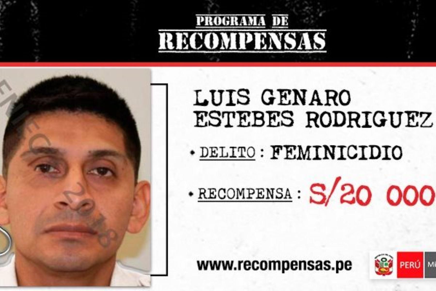 Incluyen en Programa de Recompensas a presunto asesino de mujer hallada en cilindro. Foto: ANDINA/Difusión.