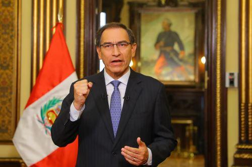 Presidente Vizcarra anunciò creación de Comisión de Alto Nivel de Reforma Política