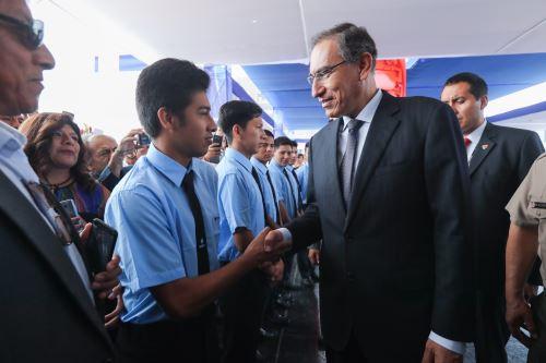 Presidente Vizcarra participó en la ceremonia por el 57° Aniversario del Senati
