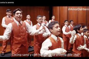 """""""Los Toribianitos"""" estrenan villancico contra la anemia. Foto: ANDINA/captura."""