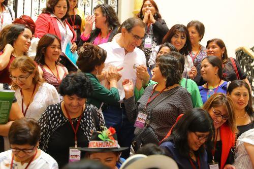 Presidente Vizcarra se reuniò con alcaldesas distritales y provinciales electas, en Palacio de Gobierno